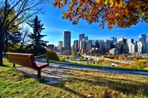 A park in Calgary, Alberta in the Fall