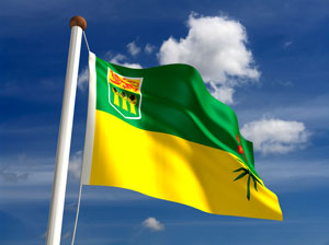 The flag of the province of Saskatchewan, Canada