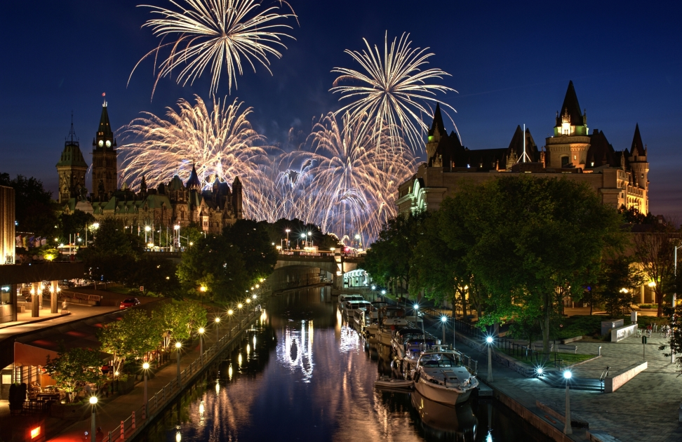 Canada Day Fireworks Ottawa Express Entry