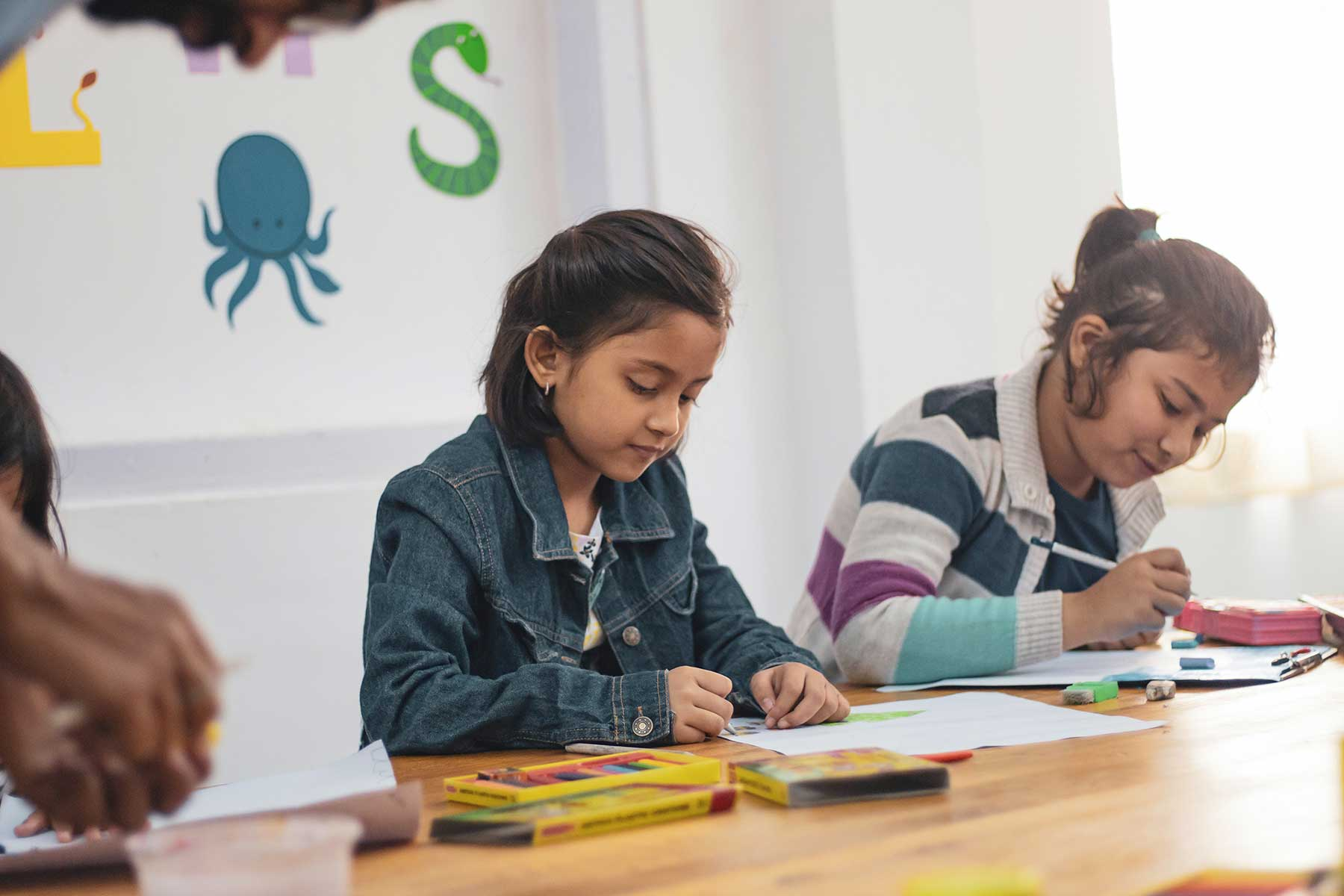 Immigrant students in a classroom