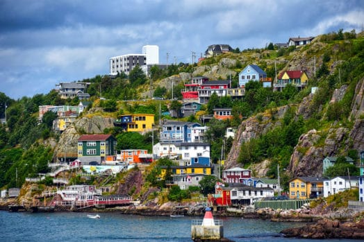 Scenic neighbourhood in Newfoundland and Labrador