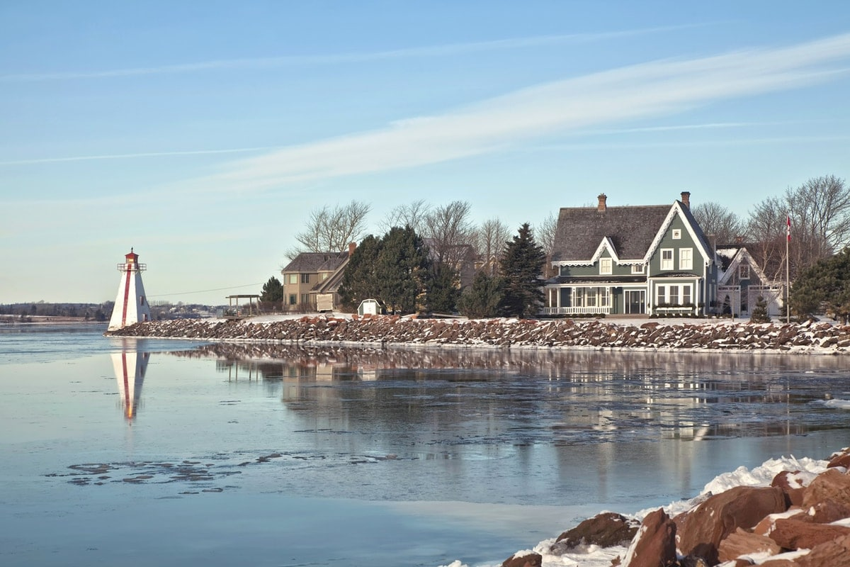 Snow-covered beach in PEI