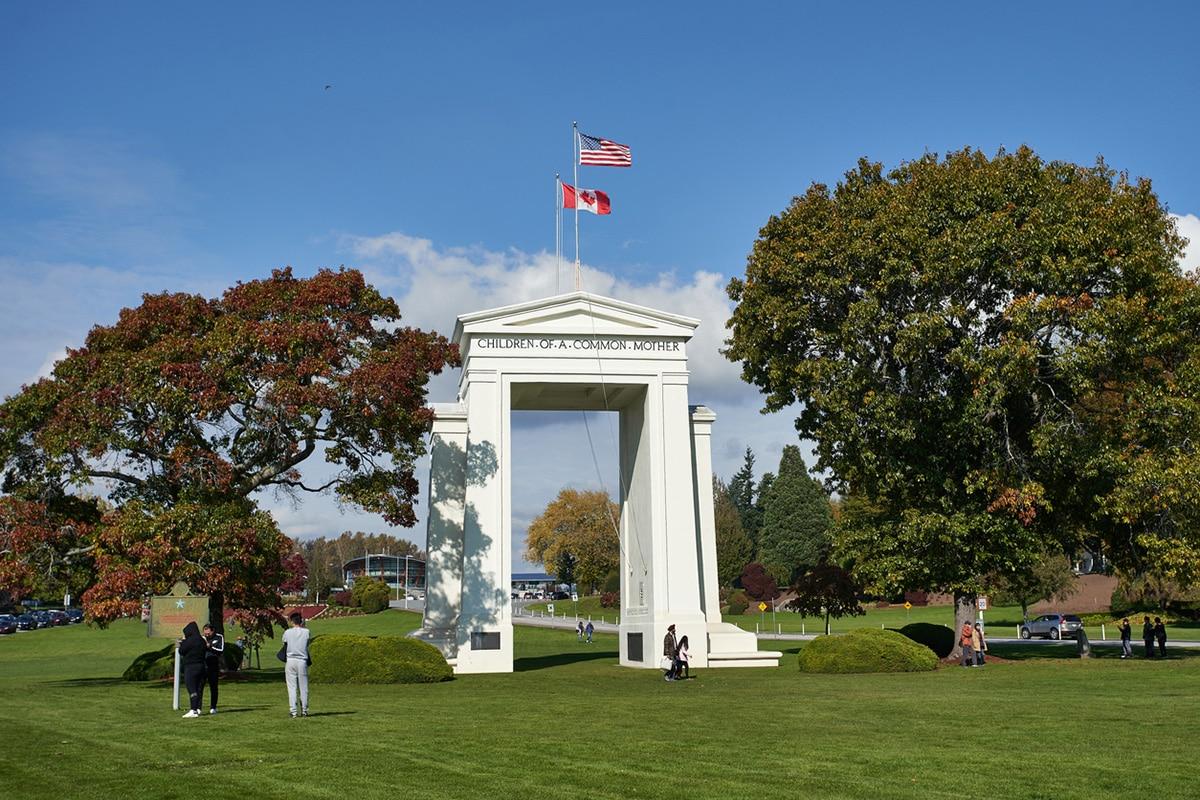 Peace Arch monument near Canada-U.S. border