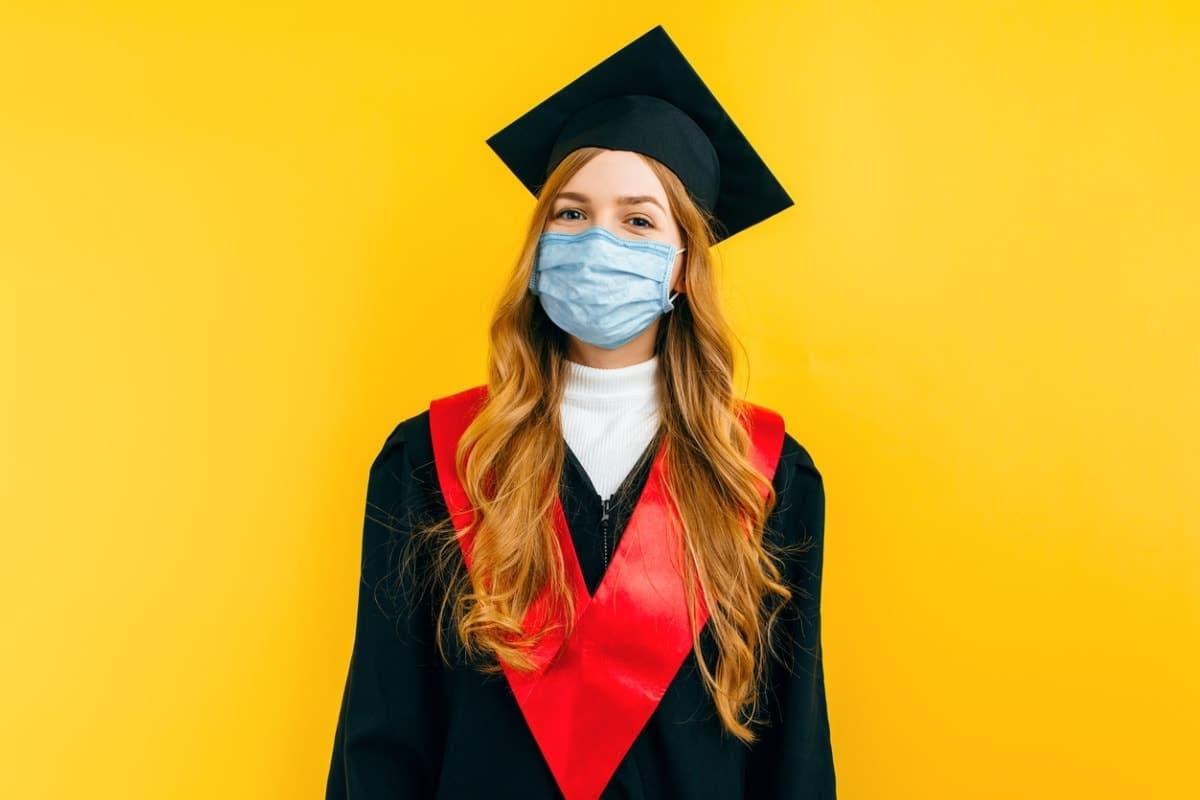 International student graduating during COVID