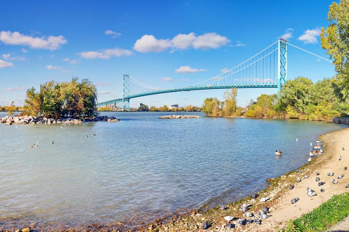 Ambassador Bridge in Windsor Ontario