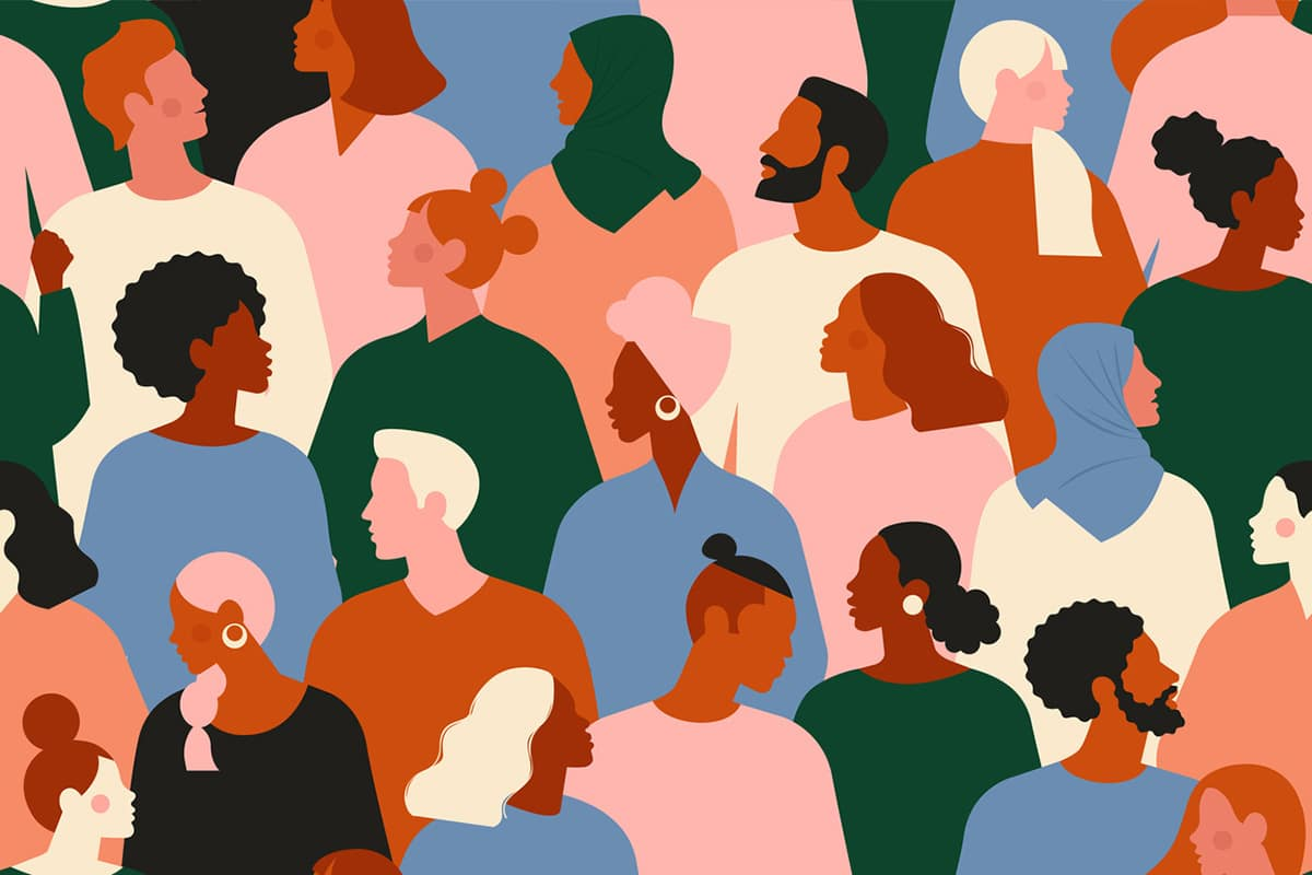 Illustration of people from various ethnicities