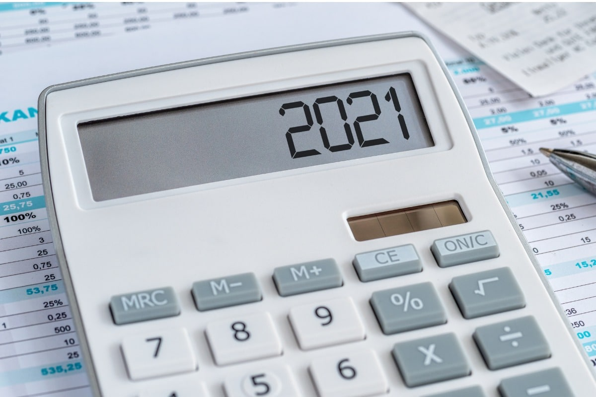 Calculator that says 2021