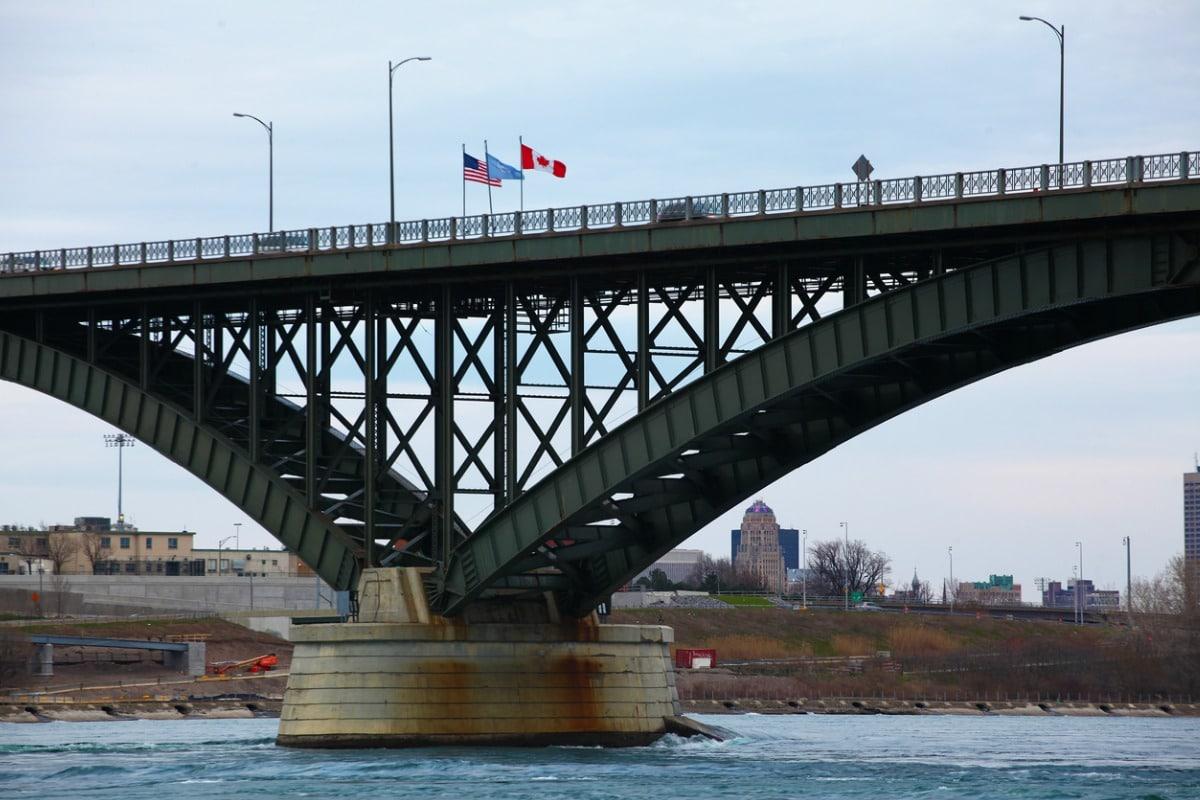 Bridge at Canada-U.S. border