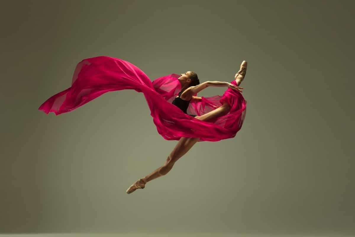 Dancer performing a stunt