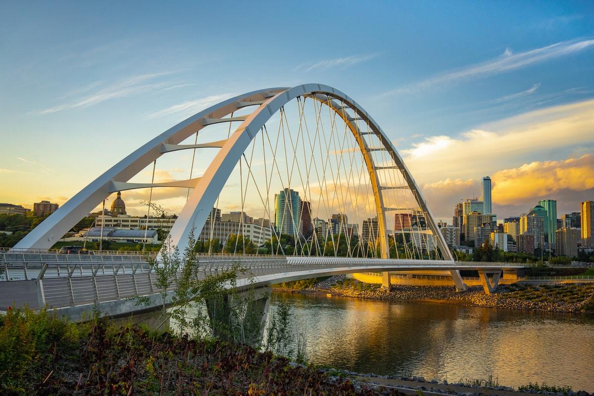 Edmonton bridge and valley
