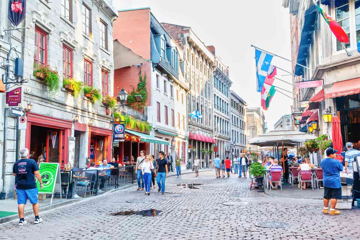 Old Montreal cobble road